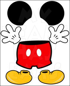 Mickey Mouse body parts for state room Disney cruise door INSTANT DOWNLOAD digital clip art :: My Heart Has Ears