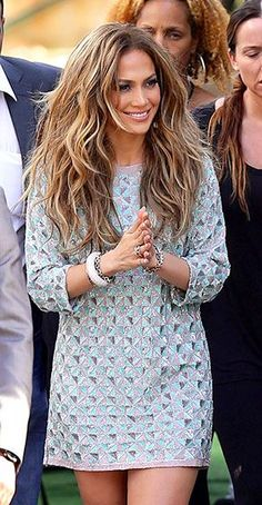 Jennifer Lopez headed into the American Idol studios in Hollywood - love this look!
