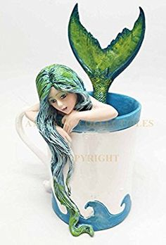 Amy Brown Sweet Addictions Morning Bliss Pretty Mermaid Sculpture Figurine