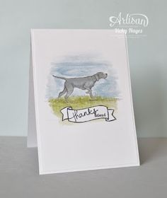 I adore this happy pup from The Wilderness Awaits by Stampin' Up!