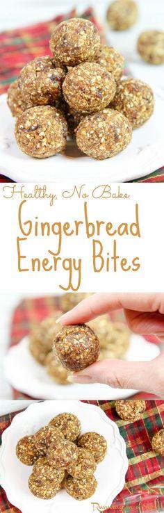 Healthy No Bake Gingerbread Balls