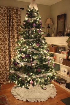 Purple & Silver Christmas tree