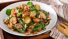 Bacon and Potato Salad with Baby Spinach. Perfect summer dish.