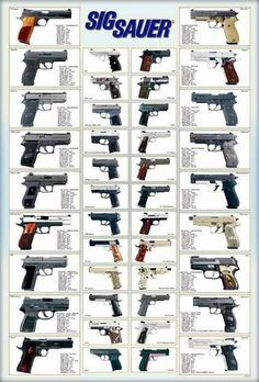 42 Models German Sig Sauer Revolvers Guns Pistols Paper Poster Germany …I will own them all. Military Weapons, Weapons Guns, Guns And Ammo, Survival, Fire Powers, Cool Guns, Shotgun, Airsoft, Firearms