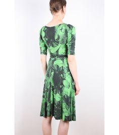 Ivana Helsinki Green Print Lampa Dress, S - WST