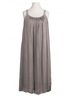 Damen Trägerkleid mit Seide, taupe von Diana bei www.meinkleidchen.de