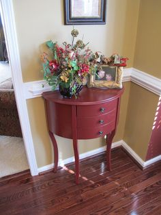 our little red table fits perfectly in the corner of this room via Melissa's Heart and Home Blog #puttogooduse #kirklands