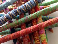 How to make fabric beads in 5 easy steps http://gilliancooper.blogspot.co.uk/2014/01/how-to-5-easy-steps-to-make-fabric-beads.html