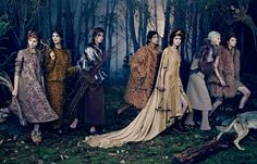 Vogue Japan 2014, Into The Woods shoot, photographed by Emma Summerton
