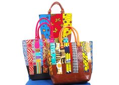 Biola Williams from Nigeria makes these amazingly colourful bags.