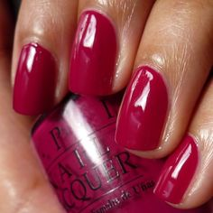 """On toenails this week:  OPI's """"Miami Beet.""""  Just in time for the insane amount of beet and goat cheese salads I have been consuming!  Woo!"""