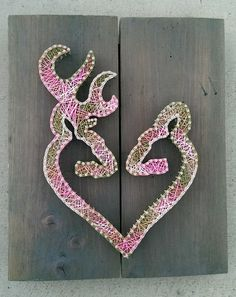 Browning heart string art by Naileditartbydian
