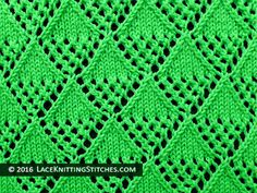 Lace knitting stitch of the Month - July 2016. #39 Ying and Yang Lace.