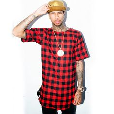 Aliexpress.com  Comprar Marca lateral Zip 2016 extendido Hip Hop Rock T  camisa Hipster Kpop Swag ropa dura Reyes Tyga ropa para hombres camisetas  tshirt ... 28db95a210c