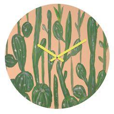 Rosie Brown Desert Town Meeting Round Clock   DENY Designs Home Accessories