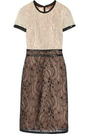 Mikael AghalTwo-tone lace dress