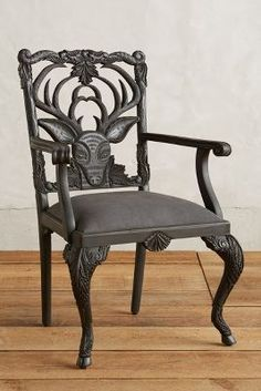 Handcarved Menagerie Deer Armchair | Anthropologie