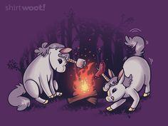 Campicorns by anemality via woot Unicorn And Glitter, Real Unicorn, Unicorn Art, Magical Unicorn, Rainbow Unicorn, Unicorn Memes, Handy Wallpaper, Unicorn Fantasy, Unicorns And Mermaids