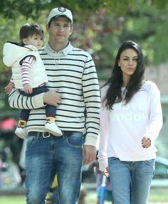 Mila Kunis & Ashton Kutcher's Park Playdate
