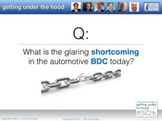 What's the glaring shortcoming in the automotive BDC today? (ESA Automotive Webinar on 10/24/14: Getting Under the Hood)