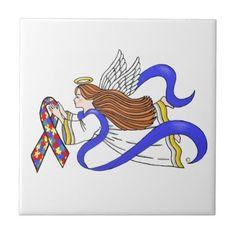 Autism Awareness Angel Tile