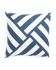 22x22 Coastal Stripes Pillow