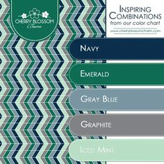 ⚜️⚜️ Inspiring Color Combinations: Navy, Emerald, Mint & Gray ❇️ Charming Printables