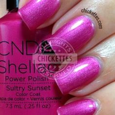 I'm trying to branch out a little into different brands, and this new collection by CND Shellac really caught my eye. I love bright, bold colors and these definitely fit that bill! Shellac Gel Polish, Shellac Nail Colors, Color For Nails, Gel Polish Colors, Gel Nail Art, Cnd Colours, Nail Colour, Nail Nail, Nail Polishes