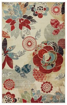 Mohawk Home Strata Geo Floral Pattern Multi Rug, 7'6x10' *** Want to know more, click on the image. (This is an affiliate link) #AreaRugsRunnersandPads