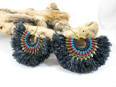 Macrame earrings - African -Tribal - Make them as you like¡¡- Hippie boho earrings