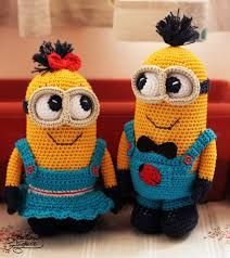 Crochet projects made of cotton. Crochet doll and crochet projects minions. Crochet Crafts, Crochet Toys, Crochet Projects, Easy Crochet Patterns, Crochet Patterns Amigurumi, Minion Doll, Minion Pattern, Minion Crochet, Cute Dolls
