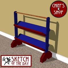 Sketch of the Day: Tilted Bookcase