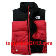 The North Face Outlet Mens Summit Series 900 Down Vest Red Black