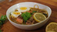 Geniale groentespaghetti - Currysoepje met rammenasspaghetti
