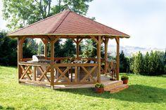 Pavillon SKANHOLZ Lyon 8-Eck Pavillion Holzpavillon - Ein romantisches Plätzchen im Garten