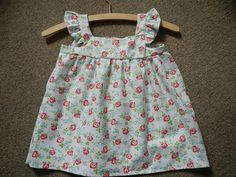 Rose Summer Top with Flutter Sleeves by BespokeBabyBoutique
