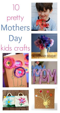 Lovely Mothers' Day crafts kids can make