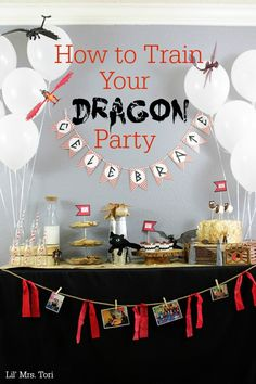 Celebrate How To Train Your Dragon style with toys from the movie. Simple and easy How To Train Your Dragon party ideas and decorations.