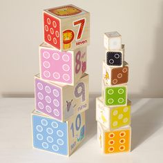 Wooden Stacking Blocks - Baby & Toddler Toys - Toys & Gifts