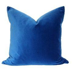 Marine Blue Velvet | Playroom accent pillow