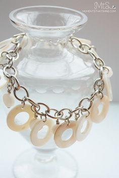 Circle Shells & Chain Bracelet on Etsy, $21.33 CAD