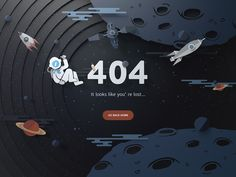 Looking for web design inspiration? We have an inspiring collection of sites that have taken the time to create highly creative 404 pages for you. Design Web, Page Design, Graphic Design, Flat Design, Design Ideas, Interface Web, User Interface Design, Empty State, Webdesign Inspiration