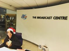 Christmas is slowly but surely creeping into The Broadcast Centre  #LifeAtWLR #LauraLovesChristmas #SantaHat #Christmas2016
