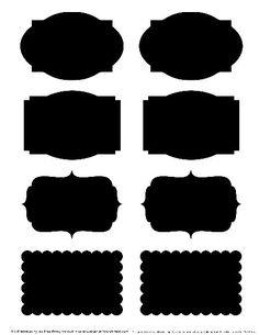 Place the picture in word and with a white colored type-set make printable labels for the kitchen, bathroom, office, etc. Can also easily change the color in photoshop, or write by hand with sharpies. Chalk Labels, Chalkboard Labels, Chalkboard Stickers, Chalkboard Ideas, Printable Tags, Printables, Diy And Crafts, Paper Crafts, Silhouette Cameo Projects