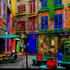 So vibrant. Who wouldn't want to sit outside