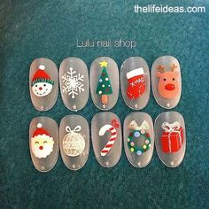 Mix & Match Christmas Cotton Candy Nail Art Tutorial – Page 40 – The Life Ideas Nail Art Noel, Cute Christmas Nails, Christmas Manicure, What Is Christmas, Xmas Nails, Christmas Nail Designs, Noel Christmas, Christmas Nail Art, Holiday Nails