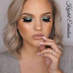 Makeup Geek Eyeshadows in Peach Smoothie, Early Bird, Sidekick, and Epic. Look by: Krystal Erlandson.