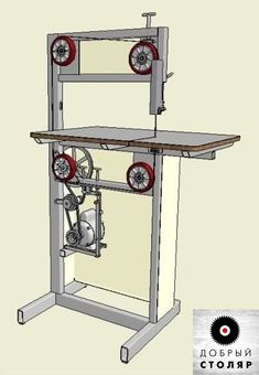 DIY Bandsaw. Maybe I can replace the motor with a treadle...