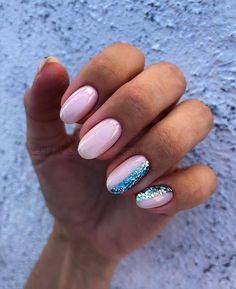 lamp kitchen garden nail videos nail powder nail videos Unquestionably, an important. May Nails, Hair And Nails, Pretty Nail Colors, Pretty Nails, Classy Nails, Cute Nails, Simple Nails, Blue Glitter Nails, Summer Acrylic Nails