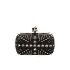 Studded Britannia Skull Box Clutch.  Alexander McQueen handbags, find them on eBay, brought together for you in one convenient site! Time and money savings! www.womensdesignerhandbag.com